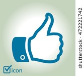 like  icon. hand finger up sign.... | Shutterstock .eps vector #472221742