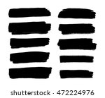 set of brush strokes | Shutterstock .eps vector #472224976