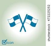 flag icon. location marker... | Shutterstock .eps vector #472225252