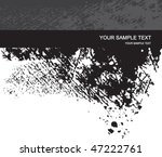 vector grunge ink background | Shutterstock .eps vector #47222761