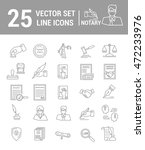 vector set of icons in a linear ... | Shutterstock .eps vector #472233976
