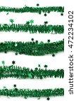 line of a tinsel green... | Shutterstock . vector #472234102
