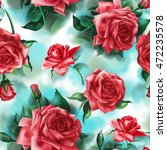 seamless pattern with beautiful ... | Shutterstock . vector #472235578