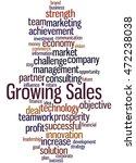 growing sales  word cloud... | Shutterstock . vector #472238038