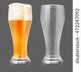Realistic Beer Glasses  Empty...