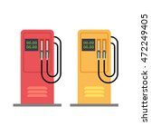 gas station pump with gasoline... | Shutterstock .eps vector #472249405