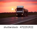 Fuel Truck Goes On Highway In...