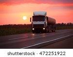 fuel truck goes on highway in... | Shutterstock . vector #472251922