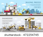 construction colored banner set ... | Shutterstock .eps vector #472254745