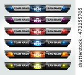 scoreboard sport template for... | Shutterstock .eps vector #472255705