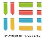 vector ribbons template set.... | Shutterstock .eps vector #472261762