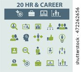 human resources  career icons | Shutterstock .eps vector #472262656