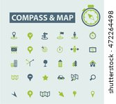 compass map icons   Shutterstock .eps vector #472264498