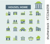 houses  home icons | Shutterstock .eps vector #472266058