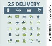 delivery icons | Shutterstock .eps vector #472267246