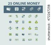 online money icons | Shutterstock .eps vector #472267258
