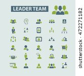 leader team icons | Shutterstock .eps vector #472271182
