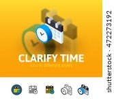 clarify time color icon  vector ...