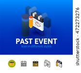 past event color icon  vector... | Shutterstock .eps vector #472273276