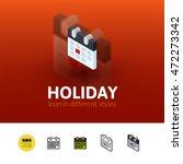 holiday color icon  vector...