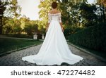 bride in the park is a... | Shutterstock . vector #472274482