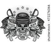 civil war coat of arms with... | Shutterstock .eps vector #472276366