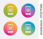 qr code sign icon. scan code in ... | Shutterstock .eps vector #472279186