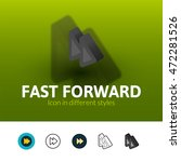fast forward color icon  vector ...