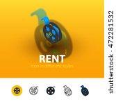 rent color icon  vector symbol...