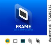 frame color icon  vector symbol ...