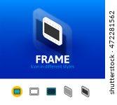 frame color icon  vector symbol ...