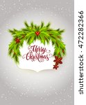 merry christmas lettering in... | Shutterstock .eps vector #472282366