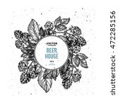 beer hop floral composition .... | Shutterstock .eps vector #472285156
