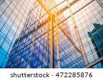 glass wall of modern skyscraper ... | Shutterstock . vector #472285876