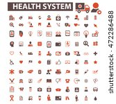 health system icons | Shutterstock .eps vector #472286488