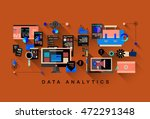 one page data analytics web... | Shutterstock .eps vector #472291348