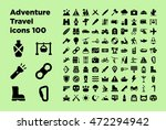 hiking and outdoors icons ... | Shutterstock .eps vector #472294942
