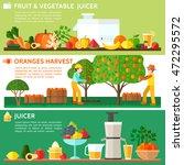 fruit and vegetable juicer.... | Shutterstock .eps vector #472295572