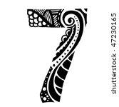number ornament   7   | Shutterstock .eps vector #47230165