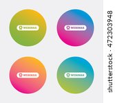 webinar web camera sign icon.... | Shutterstock .eps vector #472303948
