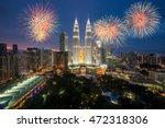 kuala lumpur skyline with...   Shutterstock . vector #472318306