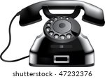 illustration of old phone | Shutterstock .eps vector #47232376