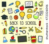 set of back to school doodle... | Shutterstock .eps vector #472326046