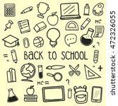 set of back to school doodle... | Shutterstock .eps vector #472326055