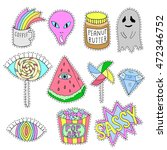 patch badges  pin badges or... | Shutterstock .eps vector #472346752