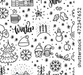winter doodles icon. hand drawn ...   Shutterstock .eps vector #472347652
