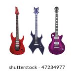 guitar vector set | Shutterstock .eps vector #47234977
