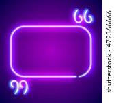 retro hipster neon glowing... | Shutterstock . vector #472366666