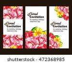vintage delicate invitation... | Shutterstock . vector #472368985