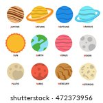 planet icon set. planets with... | Shutterstock .eps vector #472373956